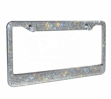 Groothandel Top Grade Crystal Bling Strass Auto <span class=keywords><strong>Nummerplaat</strong></span> <span class=keywords><strong>Frame</strong></span>
