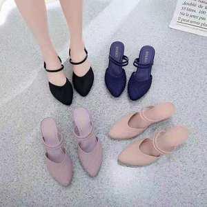 Wholesale cheap pvc ladies sandal jelly shoes