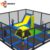 Attractive Style Teenager'S Trampoline And Bungee Jumping Indoor Trampoline Park Equipment