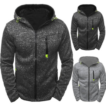 Wholesale custom men's sportswear polyester zipper hoodie fleece zip up hoodies jacket