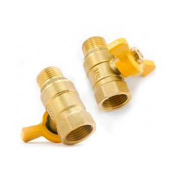 1/2 BSP threaded copper brass 1/2 Inch mini Cw617N forged brass ball valve