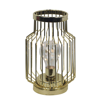 Popular design tabletop iron wire led candle lantern