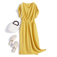 New design Plus Size Women party fashion plain casual dress
