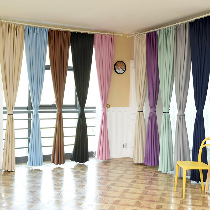 Hot selling solid color high density hotel quality blackout <strong>curtains</strong>