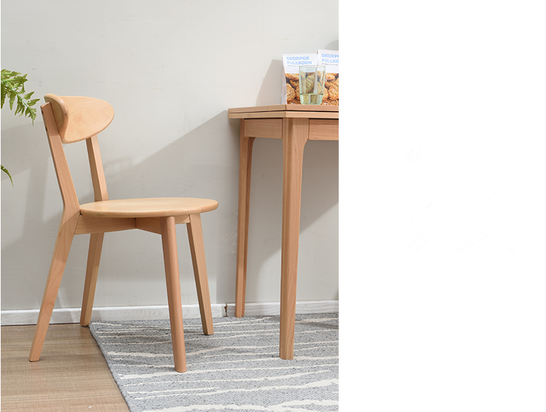 Nordic Contemporary and Contracted Family Model Cushion Chair Household Is Complete Wood Dining Chair Dining Room Furniture