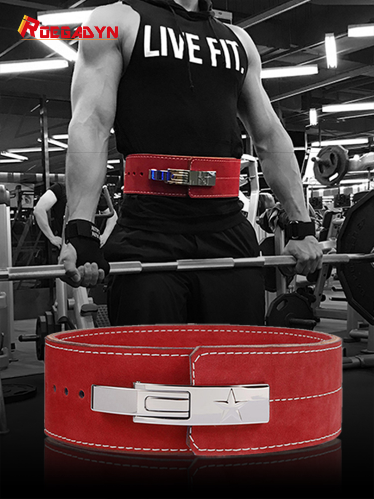 Body Belt Waist Trainer Dip Gym Belt For Men Waist Support Leather Weight Lifting Belt Gym Back Support Fitness