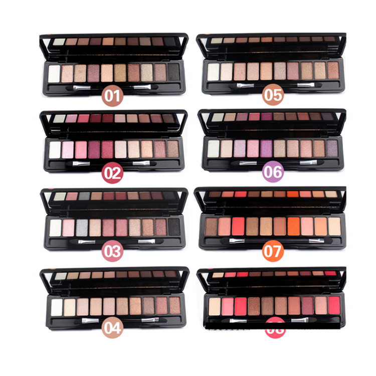 Customized Wholesale  makeup 8 colors natural eye shadow  cosmetic Eyeshadow Palette