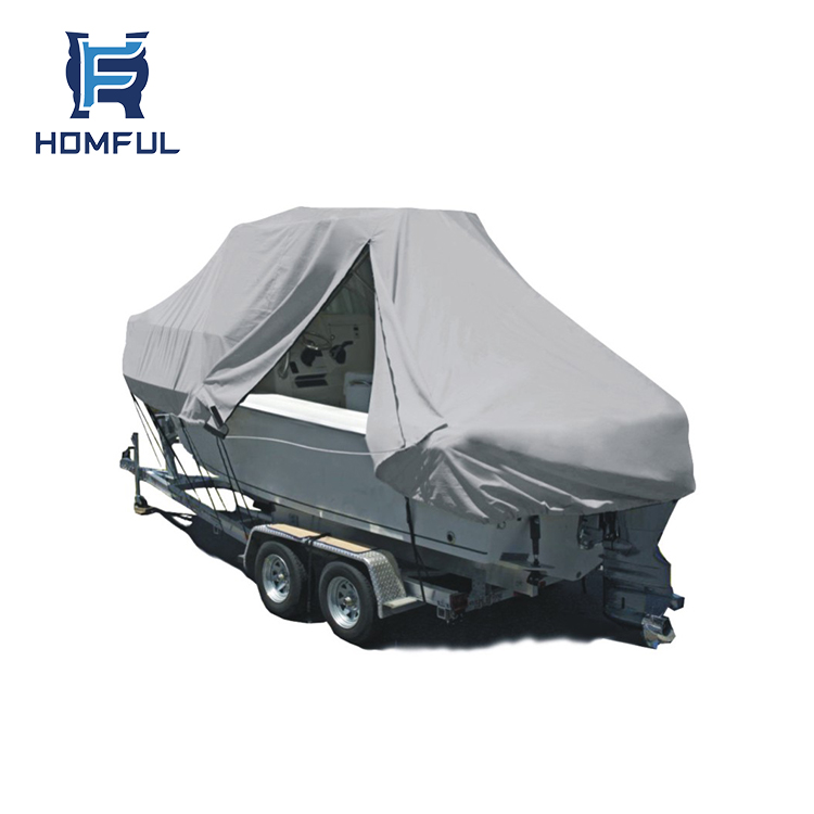 HOMFUL Waterproof Custom Jumbo Boat Cover Marine with zipper