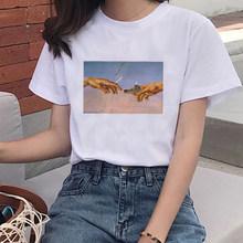 David fumar moda mujer, мягкая Эстетическая Одежда для девочек, летняя одежда для женщин, хиппи, Белый Топ, летний топ, уличная одежда, трендовая одежда(China)