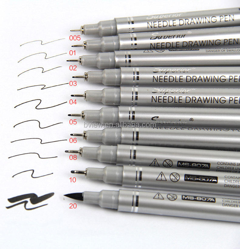 amazon hot 10 different tip size fineliner pen for art projects