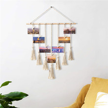 Bohemian Decor <span class=keywords><strong>Wand</strong></span> Foto Display <span class=keywords><strong>Macrame</strong></span> <span class=keywords><strong>Wand</strong></span> <span class=keywords><strong>Hängen</strong></span>