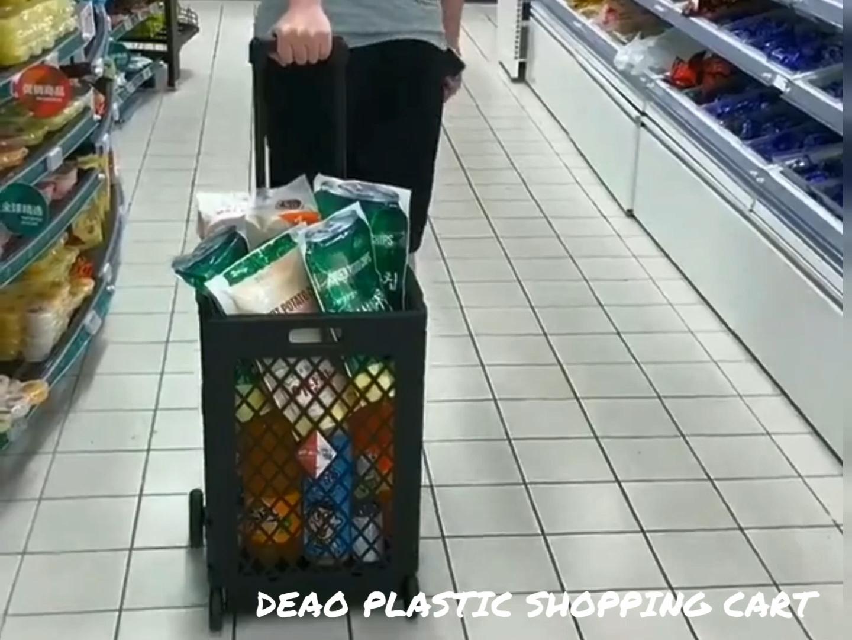 Travel heavy duty mesh portable folding shopping rolling cart