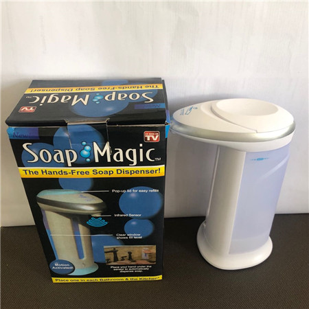 2019 Hot Selling 400Ml Abs Magic Zeep Handen Gratis Motion Gevoelige Automatische Zeepdispenser As Seen On Tv Zeep voor Keuken Bathro