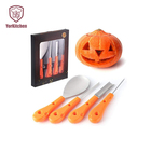 4PCS Pumpkin Carving Set Stainless Steel Carving Tool for DIY Carving Tool Party Decorations