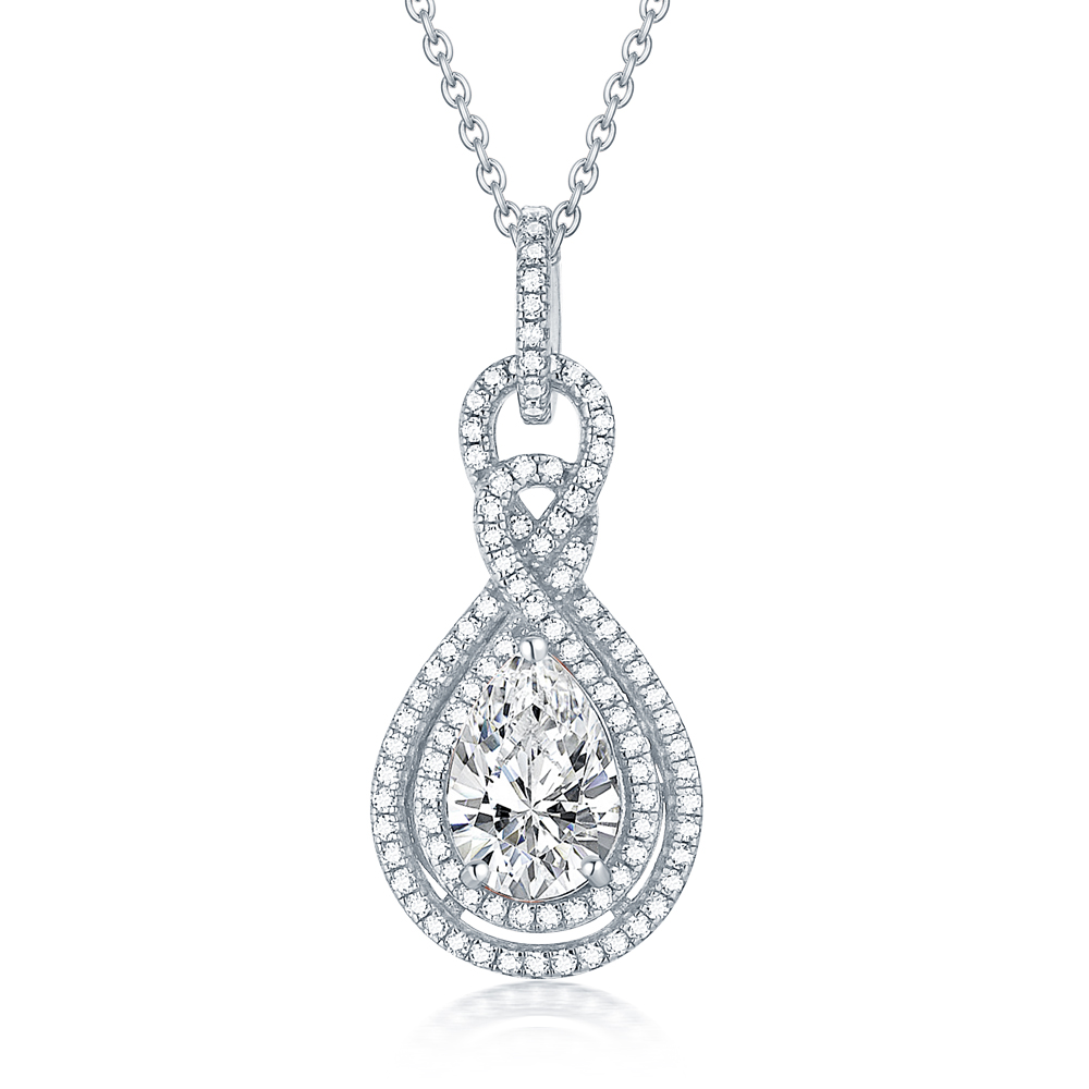Tonglin TLXL005 925 Sterling Silver Necklace Pendant Ladies Fashion Wholesale Chinese Oem Imitation Costume Jewellery