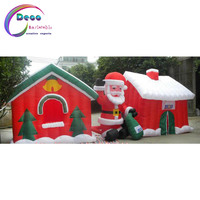 inflatable christmas Red Christmas cottage