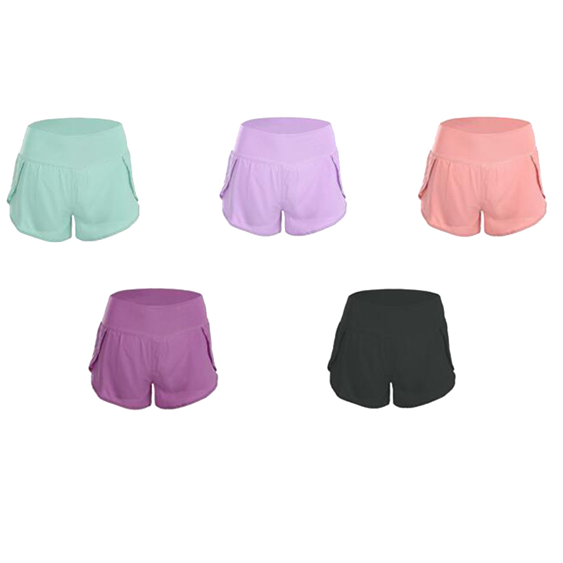 High waist hips loose sports yoga shorts women