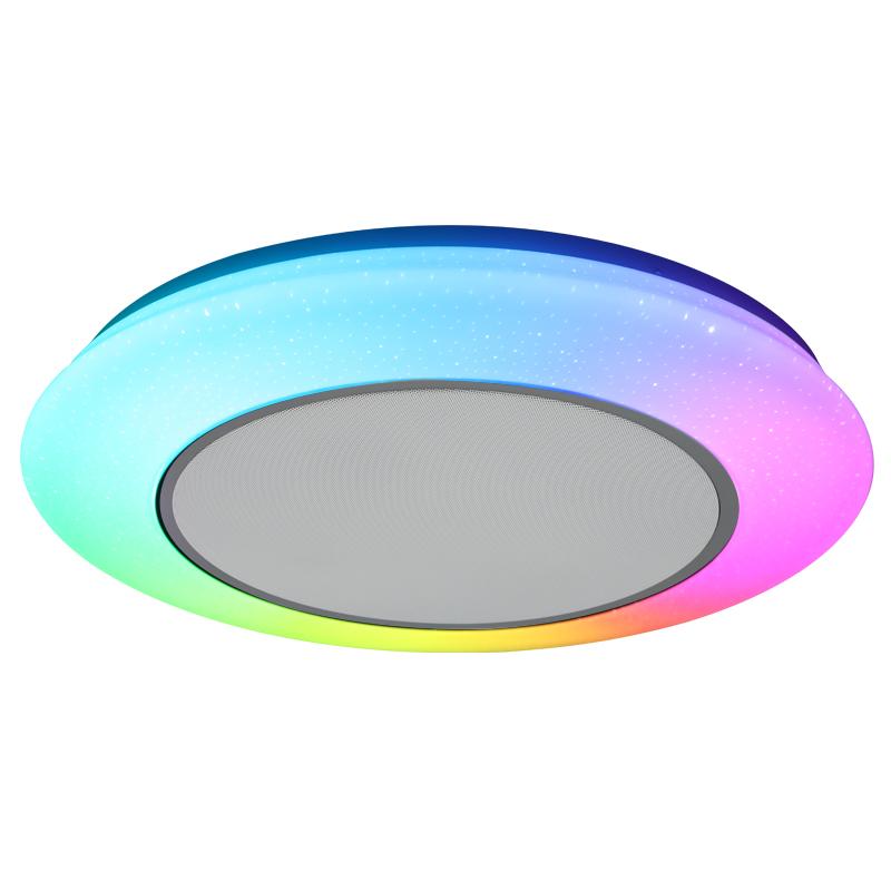 Wodong High Quality Bluetooth Smart Music Speaker Remote Control vitrail plafonnier 24W 36W 48W RGB RGBW Ceiling Light