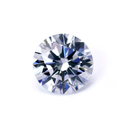 small size wuzhou gems 0.8-3mm white round shape star cut loose cz stone synthetic cubic zirconia