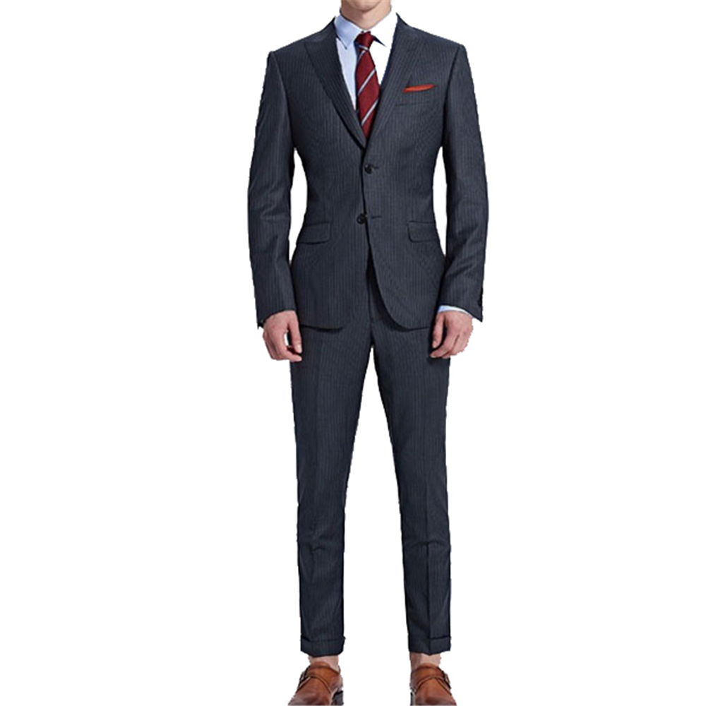 Classic England style one button formal men slim fit blazer 3 piece suit