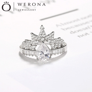 fancy gift items trending products jewelry silver ring 925 engagement rings