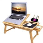 Laptop Bed Table Laptop Desk Table SONGMICS Folding Adjustable Writing Computer Laptop Breakfast Tray Desk Bamboo Bed Desk Table