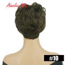 Синтетическое парики естественная волна короткие парики для Для женщин пушистые эффектом деграде (переход от темного к 70% парики из натурал...(Китай)