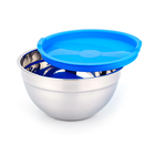 Household Item Stainless Steel Bowls Mixing Salad Bowls With Blue Lid
