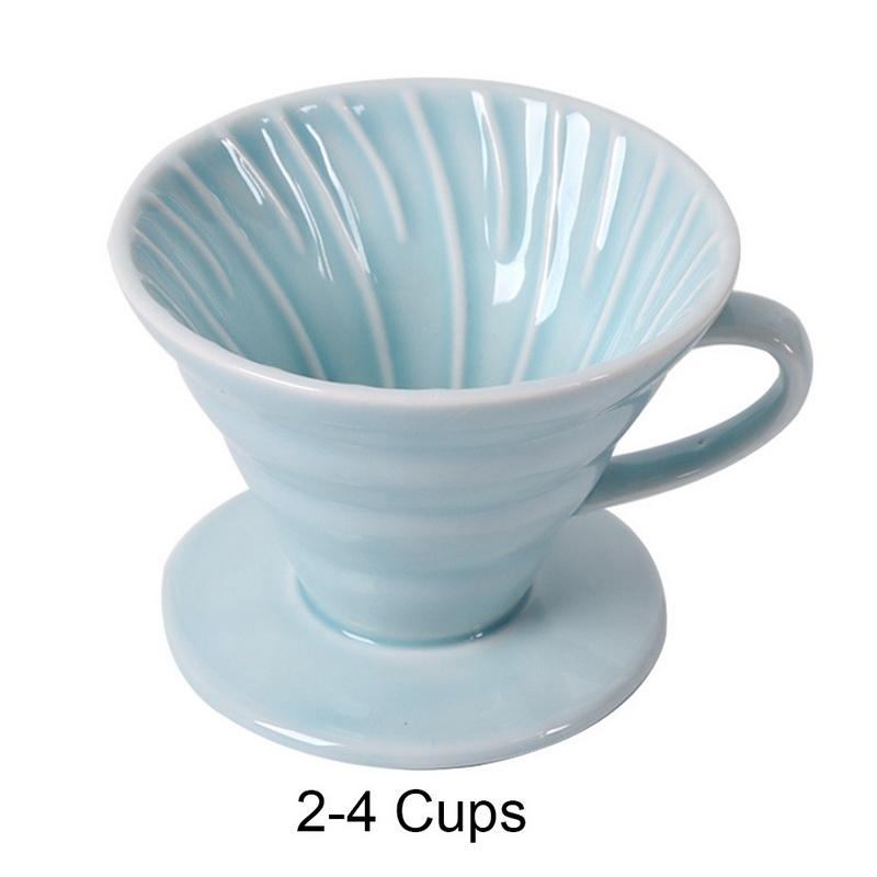 Керамический фильтр капельницы для 1-4 чашек, чашка капельного двигателя для кофе, Перманентный налить на кофеварку с отдельной подставкой(Китай)
