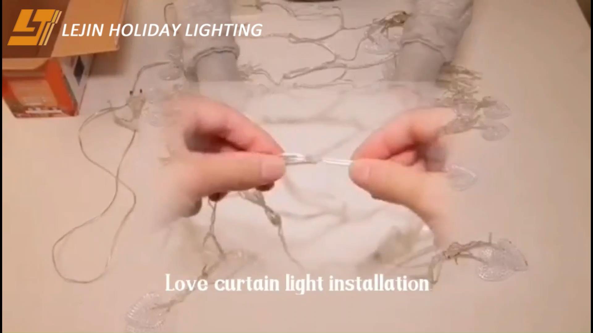 結婚式のledの装飾的なクリスマスライトの妖精のカーテンライトは休日のためのきらめきライトを導きました