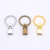 key fob hardware Ivoduff flat keychain key handmade leather luggage accessories key ring pendant hardware accessories
