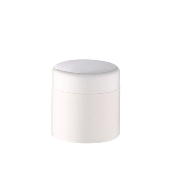 1oz 50ml  cosmetic packaging white plastic cream jar with white  lid