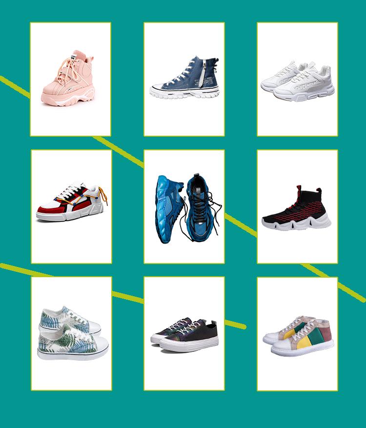 סין שטוח מוצק שחור סניקרס תלמידות נעל ג 'וקר אישה נעלי ספורט