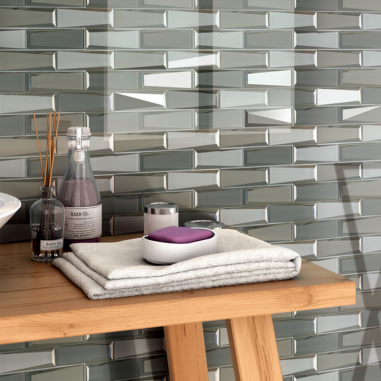 Factory Wholesale Mirror Wall Tile Mosaic Stone Glass