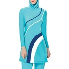 MOTIVE FORCE Bright Color Patchjob Women +50 UPF Modest Swimsuit Muslim Islamic Ladies Swimwear Beach Wear Full Cover 3pcs/set