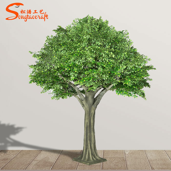 Hot Selling Large Fiberglass Artificial Decorative Tree Outdoor