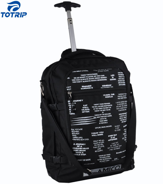 3 ways flight approved travel backpack carry-on trolley bag