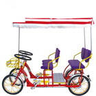 Discount for 4 wheels tandem bike with alloy rim/4 persons surrey bike/China oem 4 seats surrey bicycles for sale online