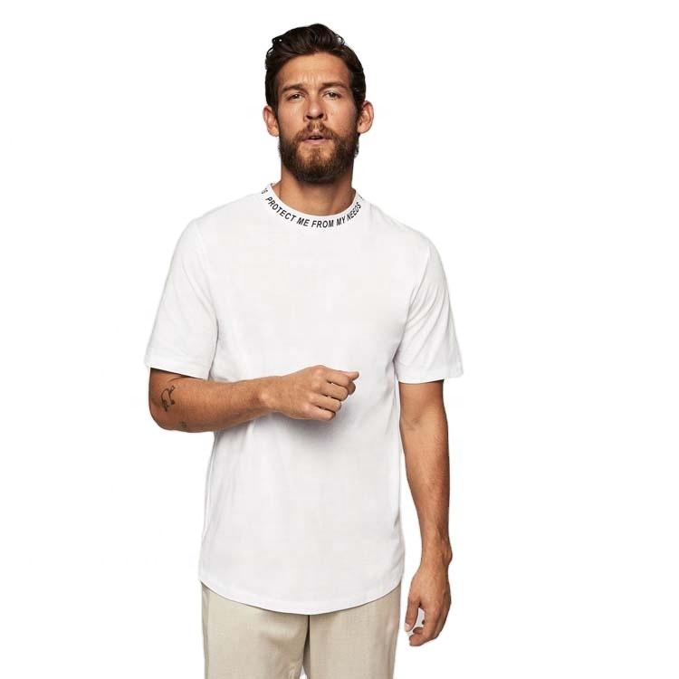אישית כותנה הדפסה לבן גברים חולצות