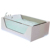 Indoor air bubble freestanding glass acrylic massage bathtub with whirlpool new models