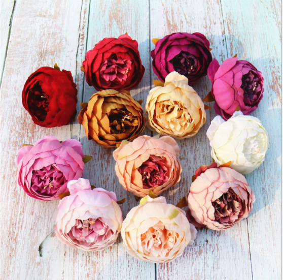 Factory wholesale Home wedding decoration silk Artificial <strong>flower</strong> simulation Foreign rose Large peony head