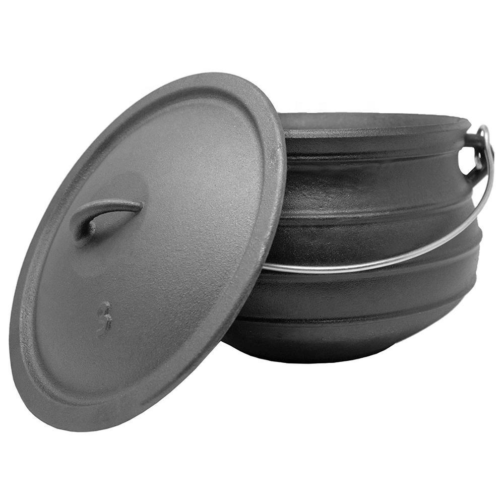 Cast Iron pre-seasoned potjie stock pot Cauldron #3