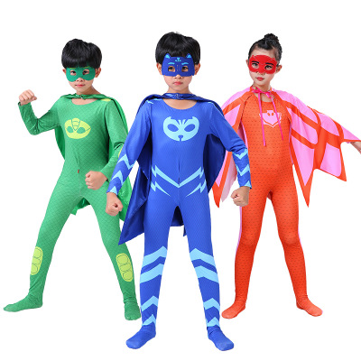 2019 Fashion Popular Party Carnival Halloween Wholesale OEM Customized logo BOYS <strong>superhero</strong> <strong>cape</strong> and mask costumes for <strong>kids</strong> set
