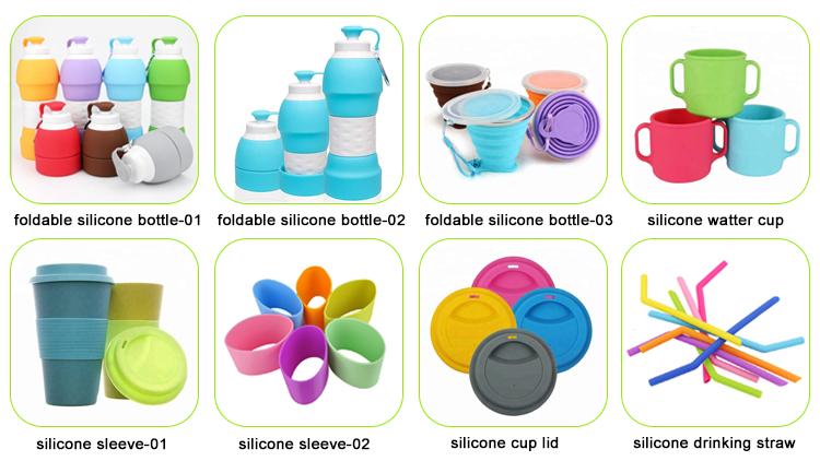 Di Vendita calda All'aperto 580ml Pieghevole Pieghevole Del Silicone Bottiglia di Acqua con Logo Personalizzato