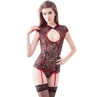 2019 Retro Style Siphon stockings sexy open japan hlatest women sexy nighty dres Sexy Lace Hollow Set