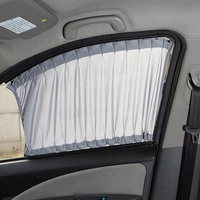 Chinese manufacturer soundproof curtain ready made car window stock lot curtains