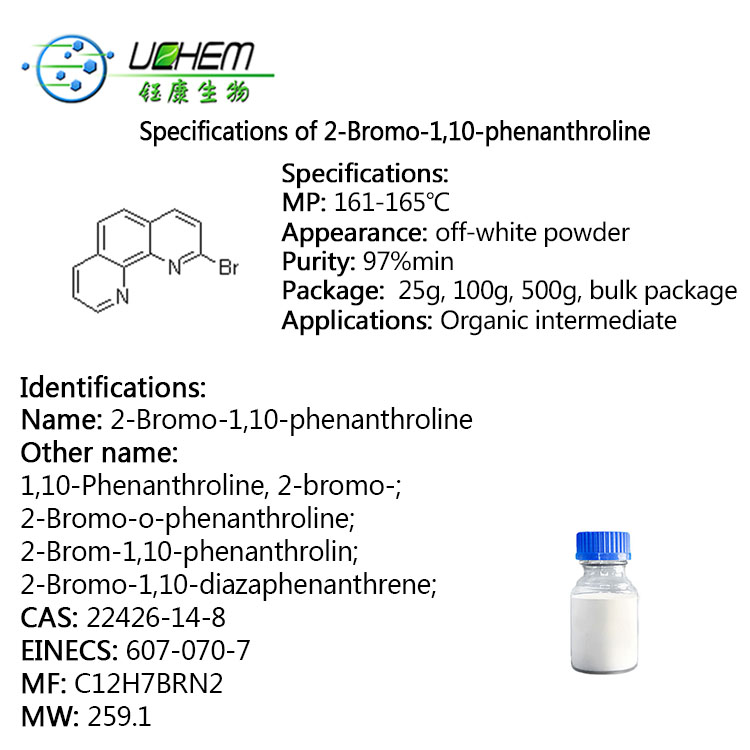 Factory Price Sell 2-Bromo-1,10-phenanthroline CAS 22426-14-8 in stock