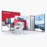 20ft Fast Delivery Trade Show Modular Display Equipment Booth with Cabinet
