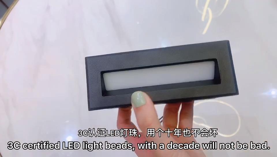 12 Вт 3 Вт кубический декоративный алюминиевый дизайн водонепроницаемая лестница лампа ip65 уличная Встраиваемая квадратная лестница светодиодные настенные ступенчатые светильники