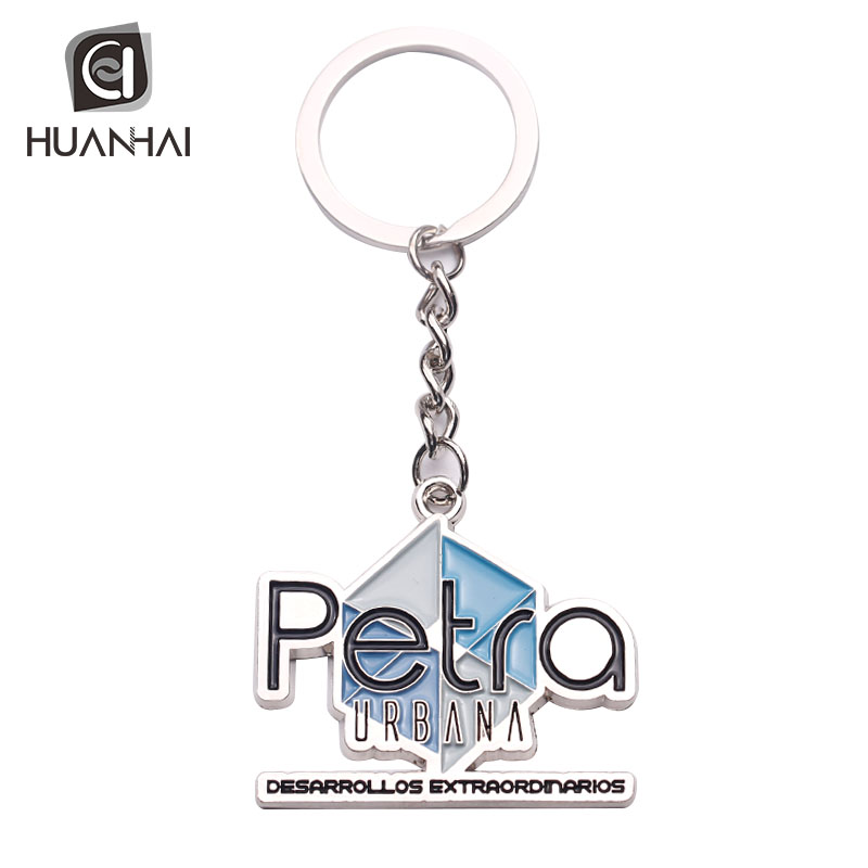 wholesale promotional gift custom souvenir enamel 3D logo letter alphabet metal key chain
